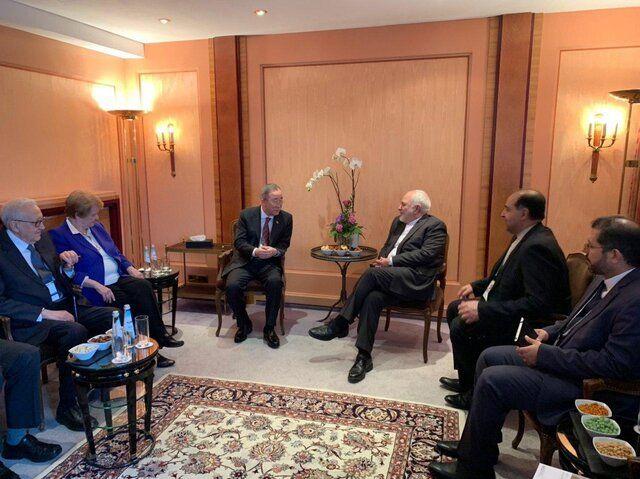 دیدار و رایزنی ظریف با مقامات بلند پایه سابق سازمان ملل