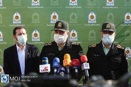 نمایشگاه کشفیات نهمین طرح ظفر پلیس تهران با حضور سردار اشتری