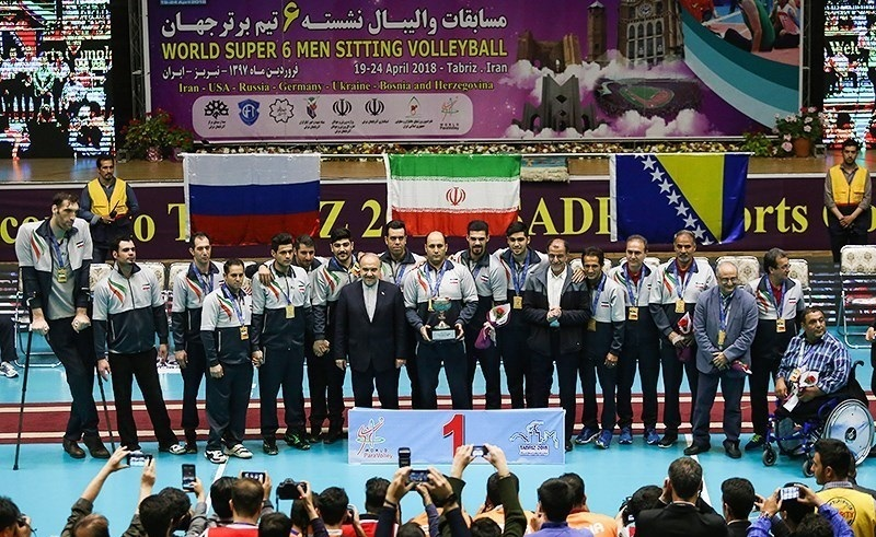 نمره A به ایران برای میزبانی مسابقات جهانی والیبال نشسته