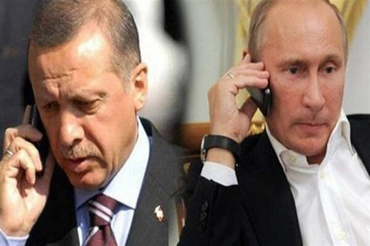 رایزنی اردوغان و پوتین درباره تحولات فلسطین اشغالی