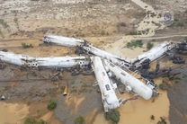 قطار حامل سوخت در کانادا واژگون شد