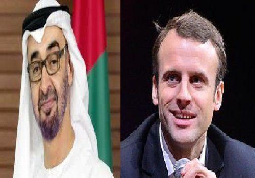 گفتوگوی تلفنی ولیعهد ابوظبی با رئیسجمهوری فرانسه