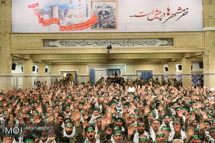 دیدار هزاران نفر از بسیجیان سراسر کشور با مقام معظم رهبری