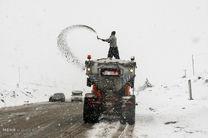 آخرین وضعیت ترافیکی محورهای مواصلاتی/بارش برف در  5 استان در روزهای آخر سال 95