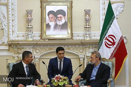 دیدار وزیر دفاع جمهوری آذربایجان با رییس مجلس شورای اسلامی