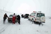 امدادرسانی هلال احمر اصفهان به 45 نفر گرفتار در برف
