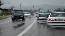 کدام جاده های کشور برفی و بارانی است؟