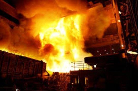 هفت مصدوم در اثر انفجار کوره  یک واحد صنعتی در نجف آباد