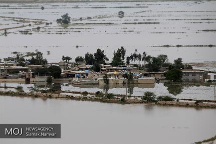 تصاویر هوایی از مناطق سیل زده استان خوزستان