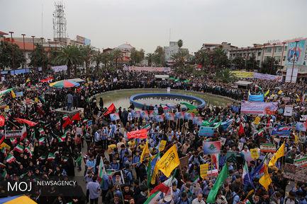 راهپیمایی روز ۱۳ آبان در رشت