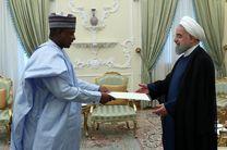تقدیم استوارنامه سفیر جدید نیجریه به روحانی