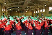 گروه سرود 1357 نفره دانش آموزی «همسرایان فجر» لرستان آماده اجرا در مراسم 22 بهمن است