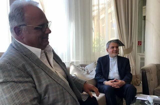 رئیس کمیته ملی المپیک کشورمان با رئیس اتحادیه جهانی کشتی دیدار کرد