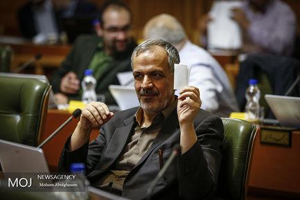 جلسه شورای شهر تهران احمد مسجد جامعی