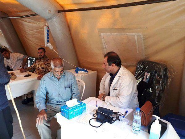 بیمارستان صحرایی نزاجا در حاشیه مراسم اقتدار ارتش برپا شد