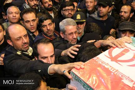 وداع با پیکر شهدای حادثه تروریستی سیستان در اصفهان