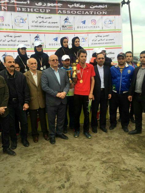 قهرمانی تیم قم در رقابت های بهکاپ ساحلی کشور