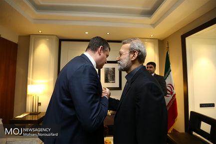 دیدار رییس کمیسیون امنیت ملی دومای روسیه با علی لاریجانی