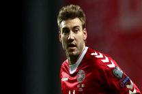 مهاجم تیم ملی دانمارک از جام جهانی بازماند