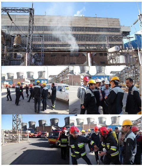 انفجار نیروگاه حرارتی  در شرکت ذوب آهن خسارت جانی نداشت