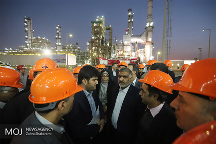 بازدید نمایندگان مجلس از پالایشگاه نفت ستاره خلیج فارس