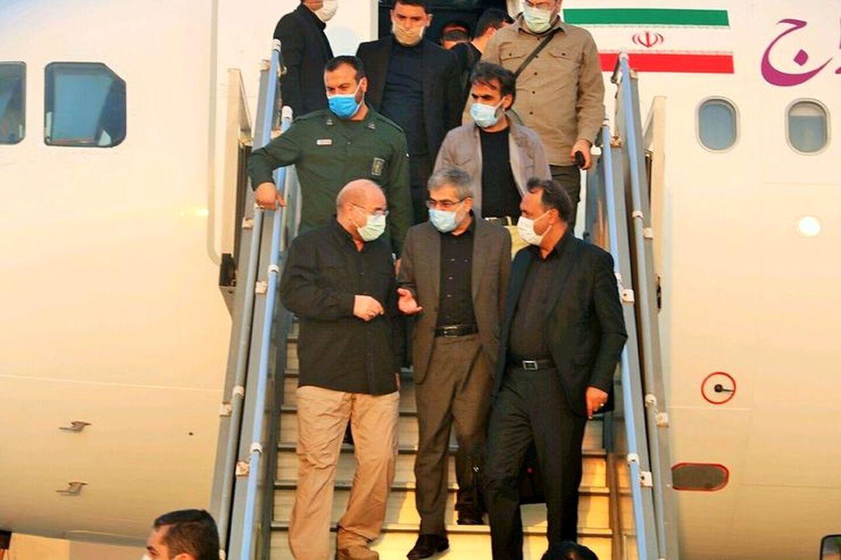 محمد باقر قالیباف، رییس مجلس شورای اسلامی وارد مشهد شد