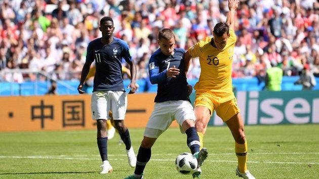 نتیجه بازی فرانسه و استرالیا در جام جهانی/ پیروزی فرانسه مقابل استرالیا