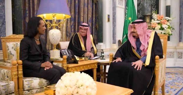 ولیعهد عربستان با کاندولیزا رایس دیدار کرد