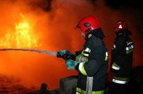 اطفاء آتش سوزی یک باب مغازه در باغ فردوس اصفهان