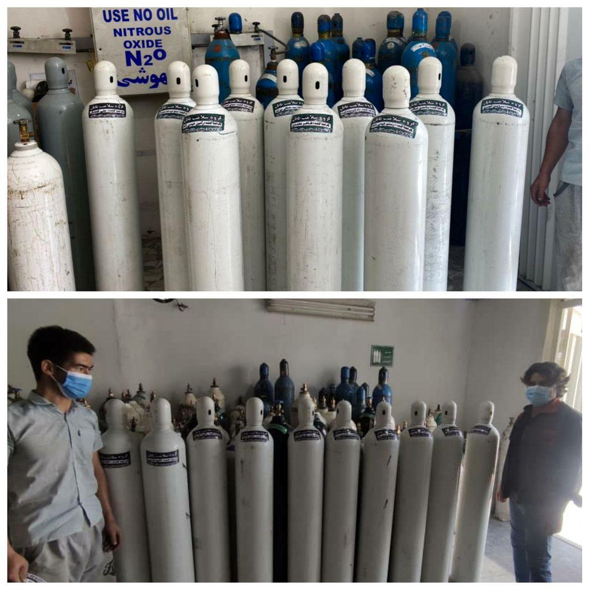 اهدای 20 کپسول اکسیژن به به مراکز درمانی بابل