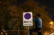 نصب مجدد پس از سرقت گسترده تابلوهای ترافیکی بندرعباس