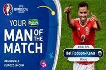 رابسون کانو بهترین بازیکن تقابل دو تیم ولز و بلژیک شد