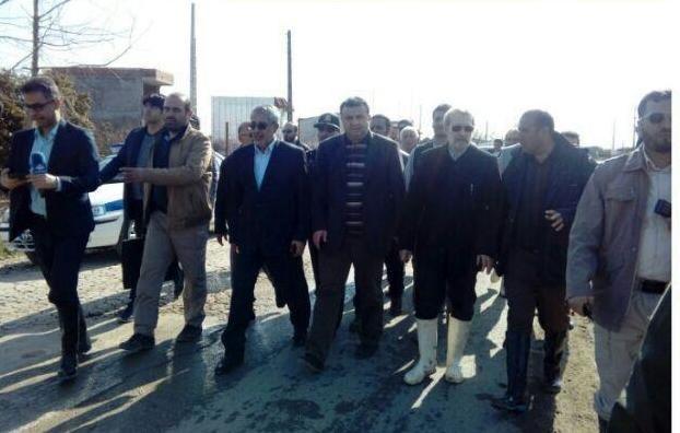 بازدید لاریجانی از مناطق سیل زده مازندران