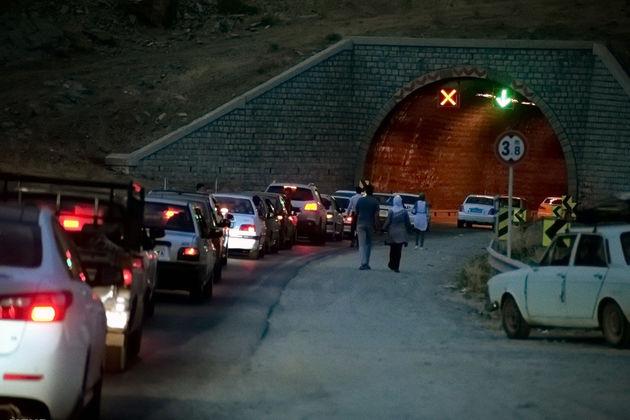 ترافیک در محور چالوس محدوده بیلقان تا پورکان سنگین است