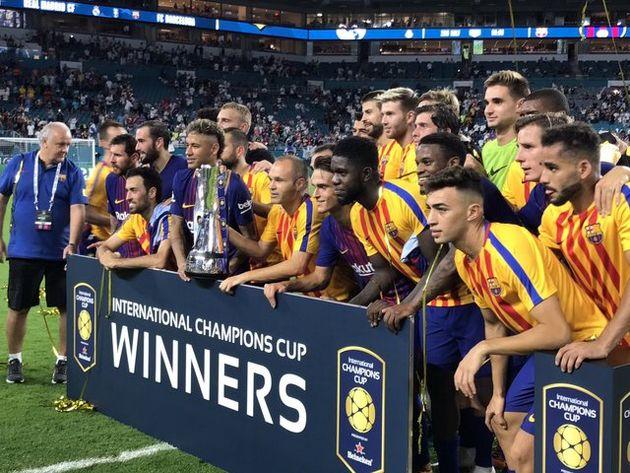 بارسلونا قهرمان چمپیونز کاپ آمریکا شد