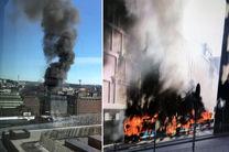 انفجار اتوبوس در قلب استکهلم