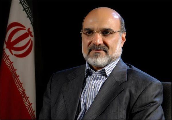 رئیس رسانه ملی به روضه الشهدای بیروت رفت