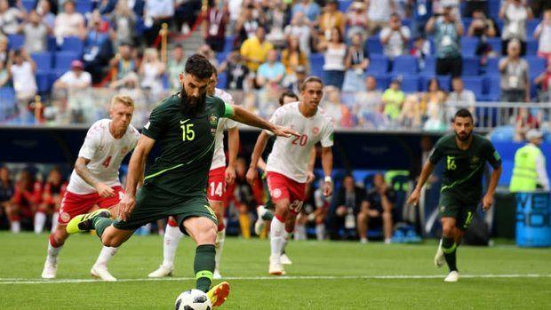 نتیجه نیمه اول بازی  دانمارک و استرالیا