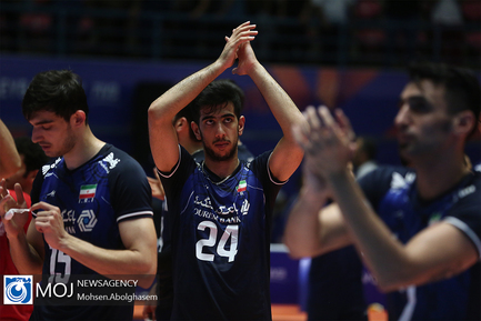 دیدار تیم های ملی والیبال ایران و فرانسه