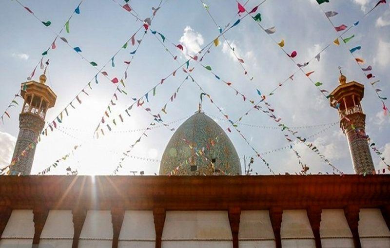 در میلاد پیامبر اکرم (ص)، حرم شاهچراغ (ع) غرق در شادی و سرور می شود