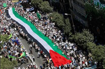 ظریف در جمع راهپیمایی روز قدس