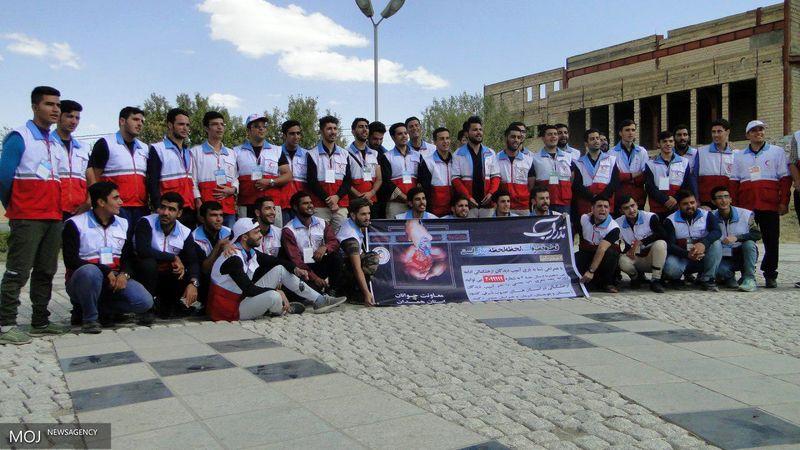 حضور جوانان هلالاحمر استان همدان در فجر فاطمی