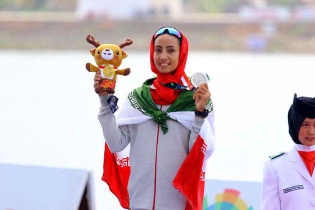 هدیه کاظم مدال نقره قایقرانی بازیهای آسیایی را از آن خود کرد