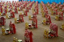 توزیع 1300 بسته کمک معیشتی بین آسیب دیدگان کرونایی در شهرستان برخوار
