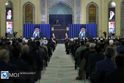 ارتباط تصویری مقام معظم رهبری با مردم آذربایجان شرقی