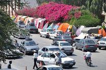 جلوگیری از نصب چادر مهمانان نوروزی در ساحل بندرعباس