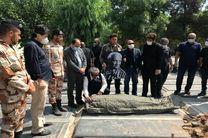 پیکر حسن شریفی در قطعه هنرمندان به خاک سپرده شد