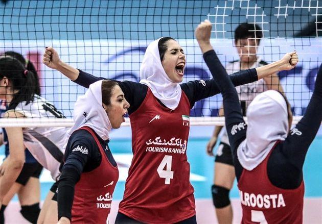 پیروزی دختران والیبالیست ایران مقابل هند/ صعود دو پله ای دختران نوجوان ایران