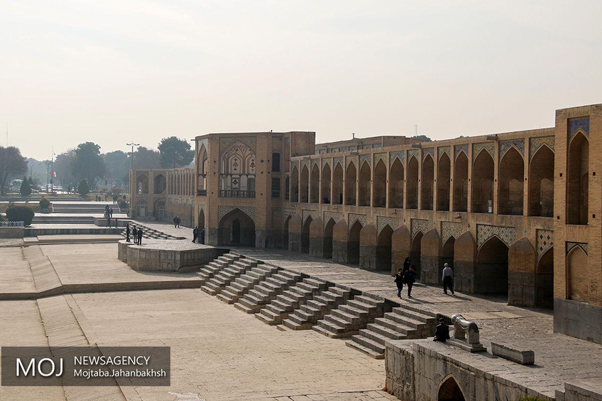 کیفیت هوای اصفهان در وضعیت نارنجی / شاخص کیفی هوا 135