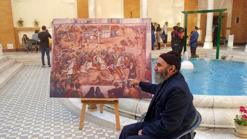 پاسداشت اربعین حسینی با حضور نقاشان قهوهخانهای
